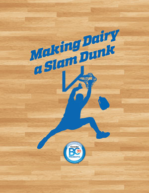 logo making dairy a slam dunk